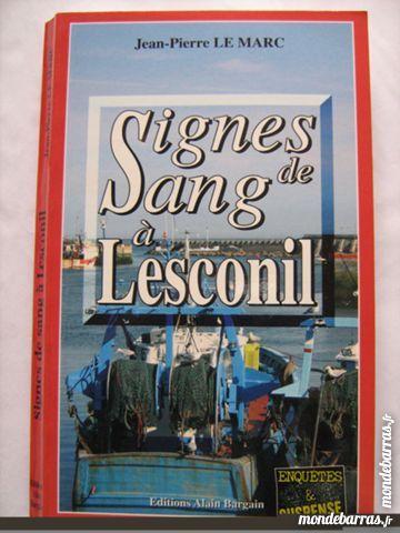 SIGNES DE SANG A LESCONIL  policier BRETON BARGAIN 3 Brest (29)