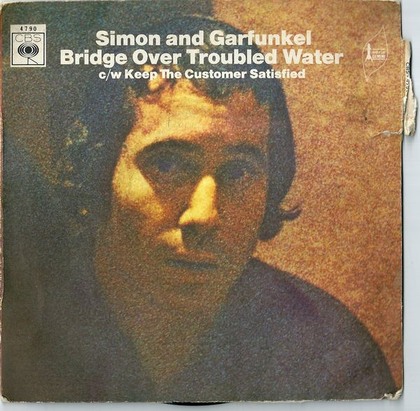Simon and garfunkel bridge over troubled 45 tours 3 Divion (62)