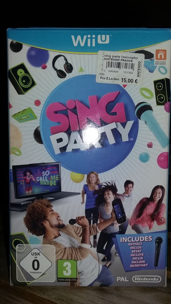 Sing party WII U + micro 7 Coutières (79)