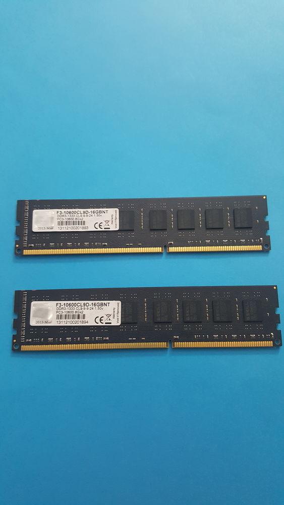 G.SKILL 16GO KIT 2 x 8GO DDR3 F3-10600CL9D-16GBNT 90 Fontenay-le-Fleury (78)