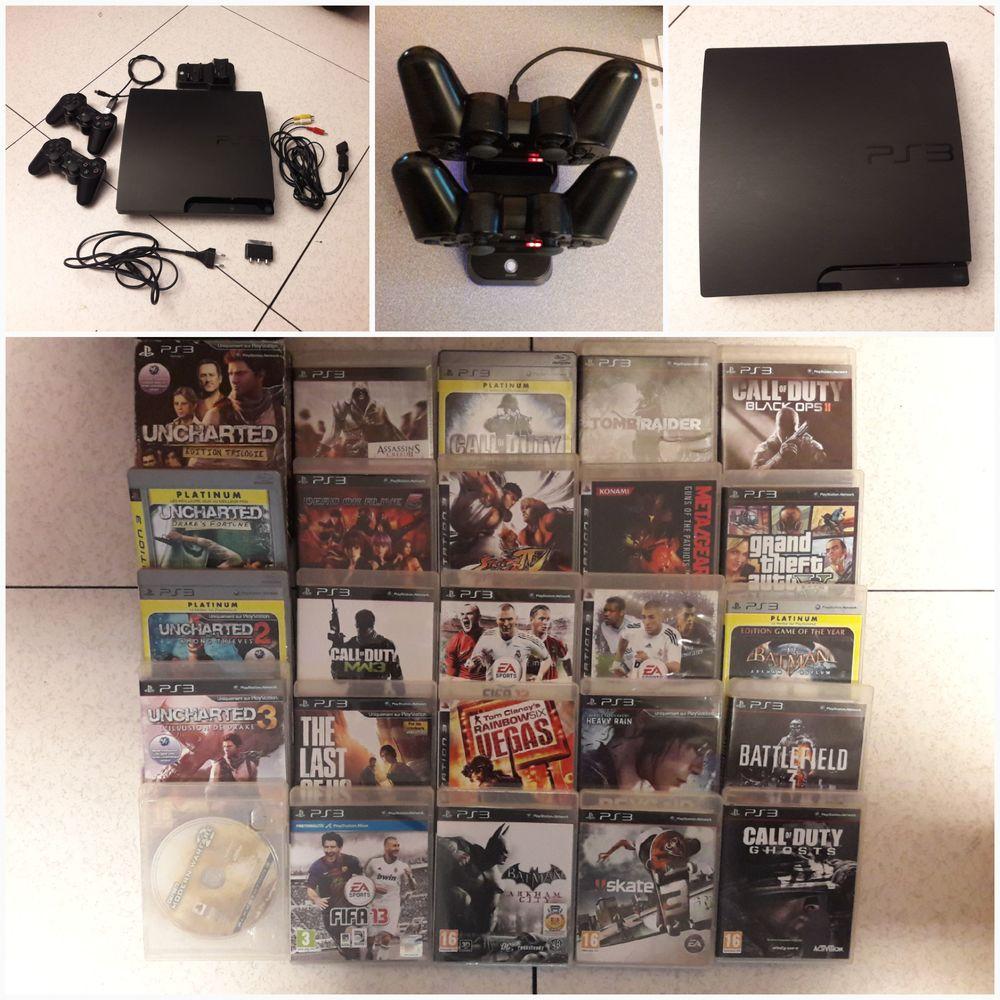PS3 Slim CECH 3004A 140Gb + 25 jeux 0 Éragny (95)