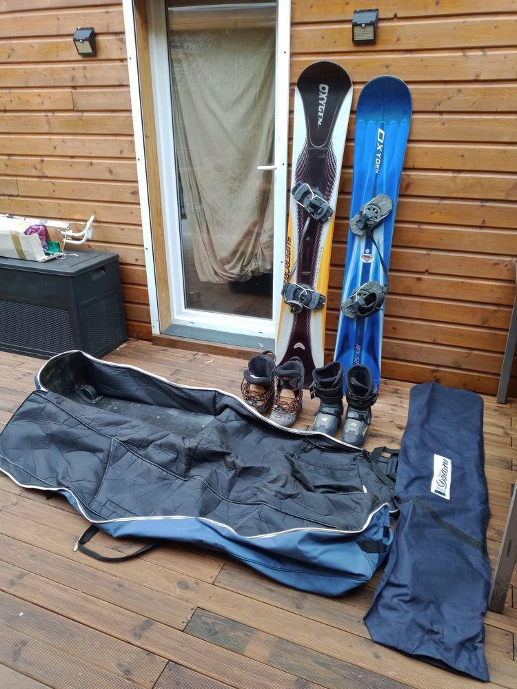 2 Snowboards OXYGEN quasi neufs   housse à roulettes   ... 200 Boucau (64)