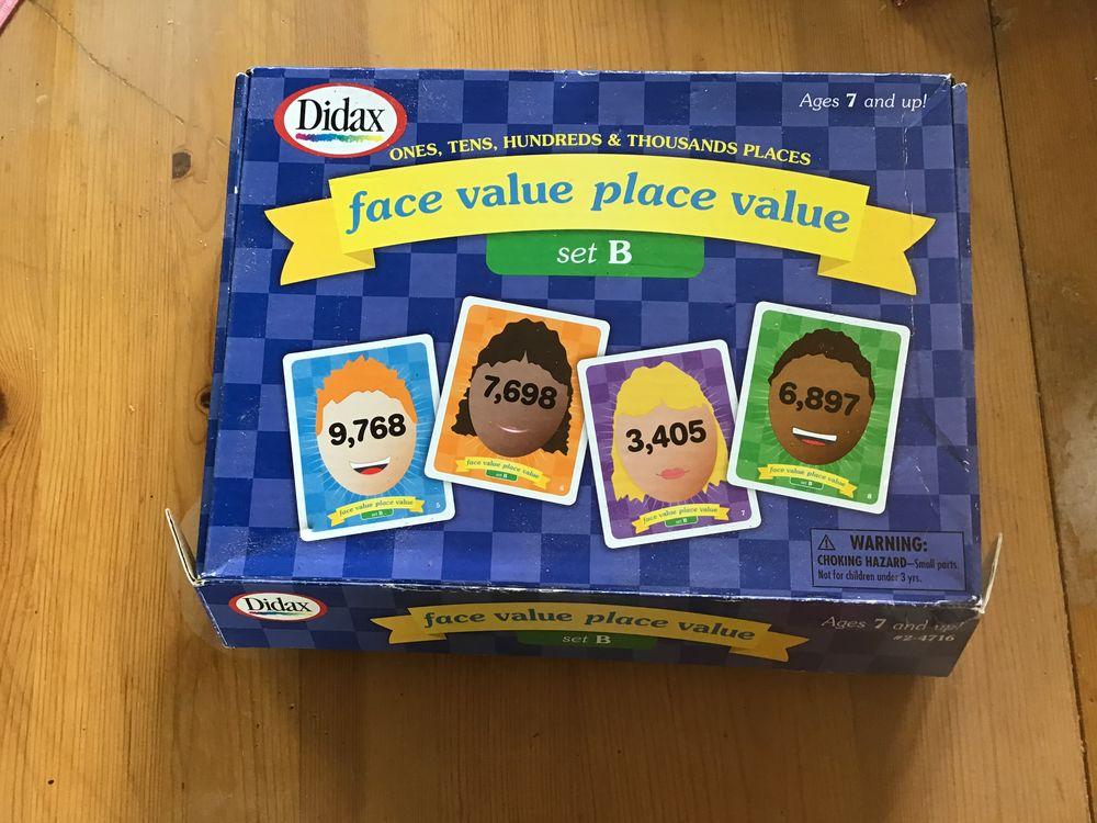 Jeu de société en anglais face value place value Didax 2 Verneuil-sur-Avre (27)