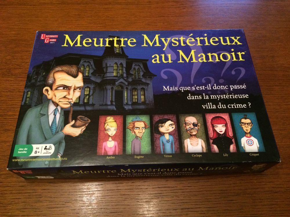 Jeu de société Meurtre Mystérieux au Manoir 8 Bellaing (59)