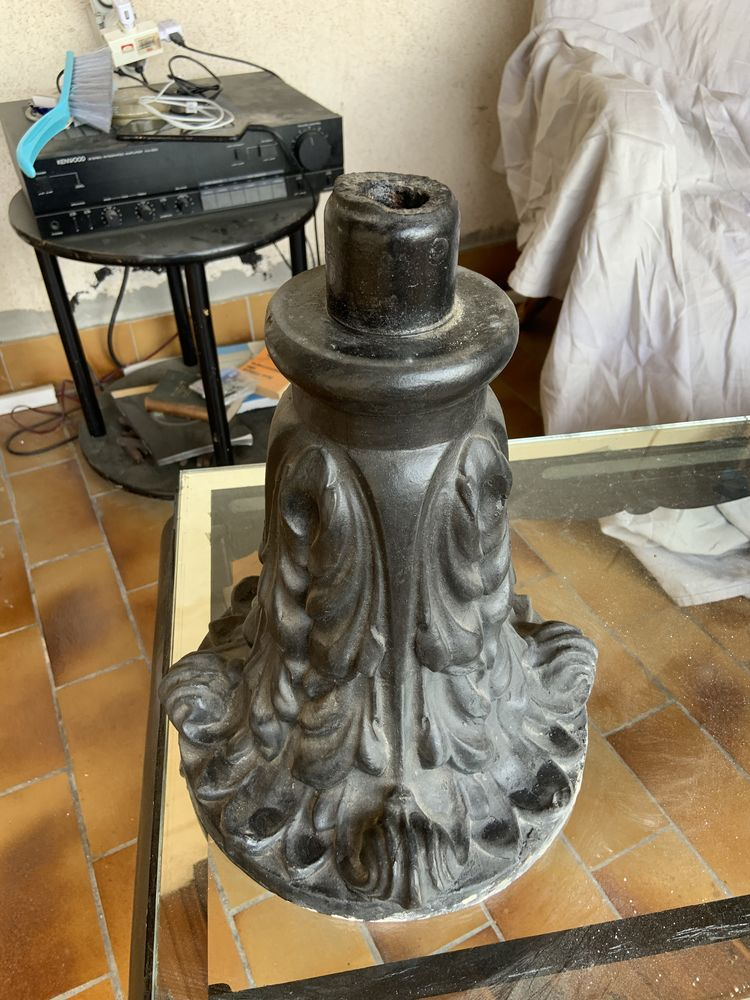 Socle en fonte pour lampe ou autre  120 Marseille 1 (13)