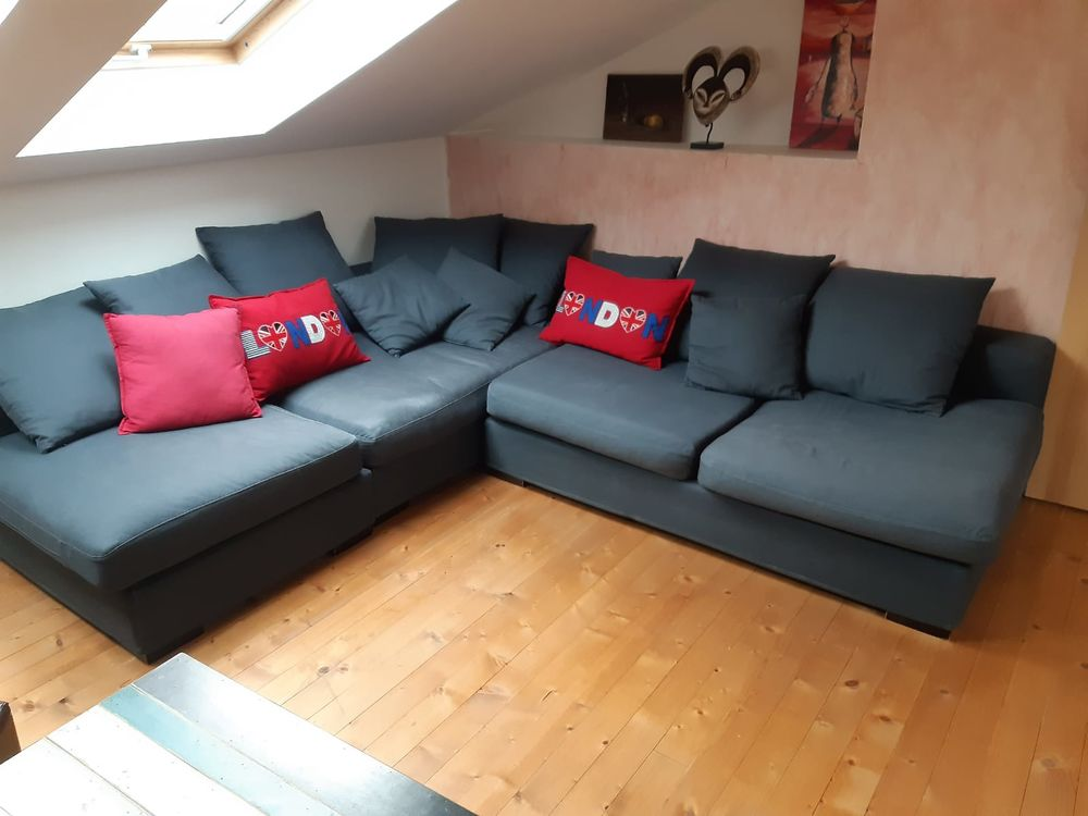 Sofa salon bleu roi 400 Marcollin (38)