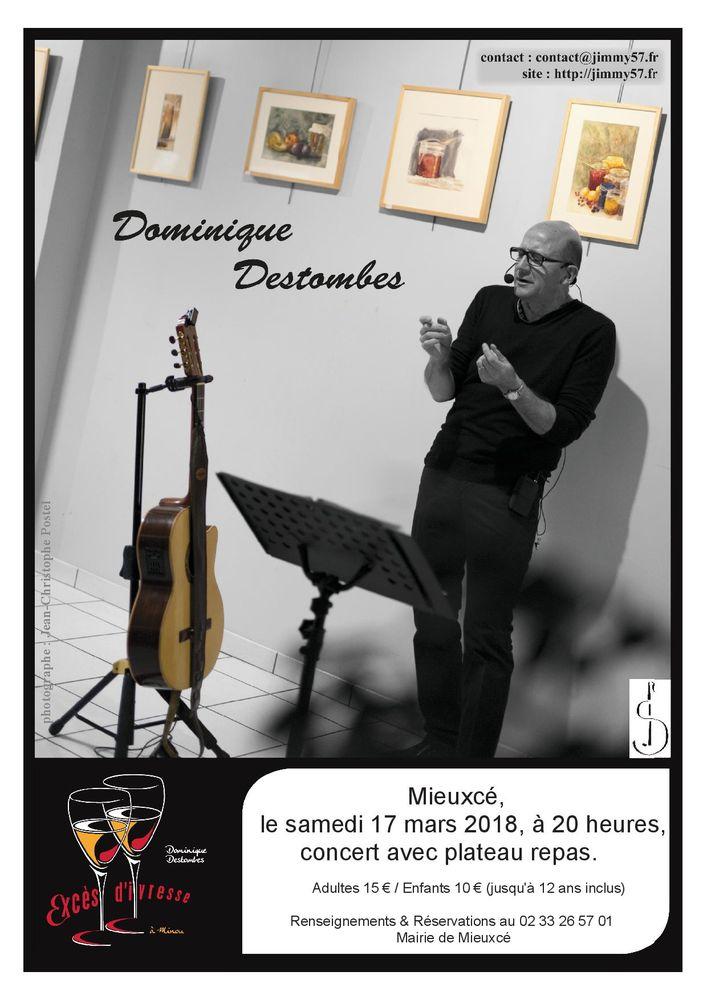 Soirée concert à MIEUXCE le samedi 17 mars 2018 à 20H 15 Alençon (61)