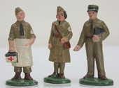 Soldats QUIRALU médecin et infirmière 50 Issy-les-Moulineaux (92)
