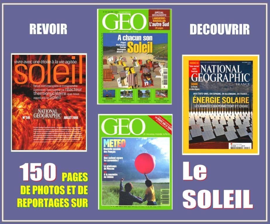 LE SOLEIL - géo - ENERGIE SOLAIRE / prixportcompris 17 Bordeaux (33)