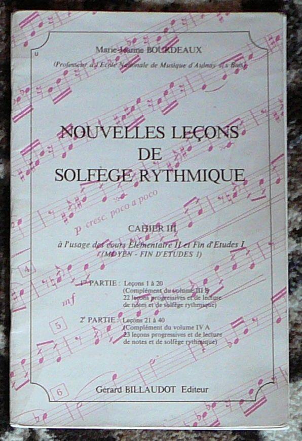 [solfège] leçons de solfège rythmique n°3, Bourdeaux 5 Lens (62)