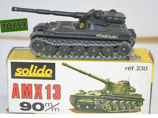 SOLIDO militaire CHAR AMX 13T n°230 de 1971 -toy59 45 Mons-en-Barœul (59)