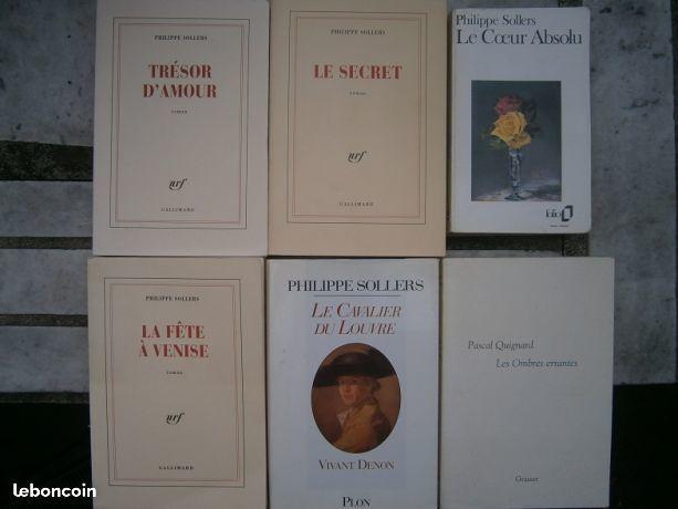 Sollers quignard musso livres 5 Paris 3 (75)