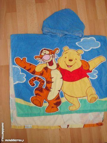 Sortie de bain Winnie cape de bain bleu rouge Vêtements enfants