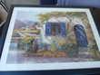 SOUS VERRE CADRE BOIS BLEU jolie gravure 86 X 66 Meubles