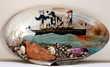 Souvenir du bord de mer paquebot Terre cuite de l'Isle Adam