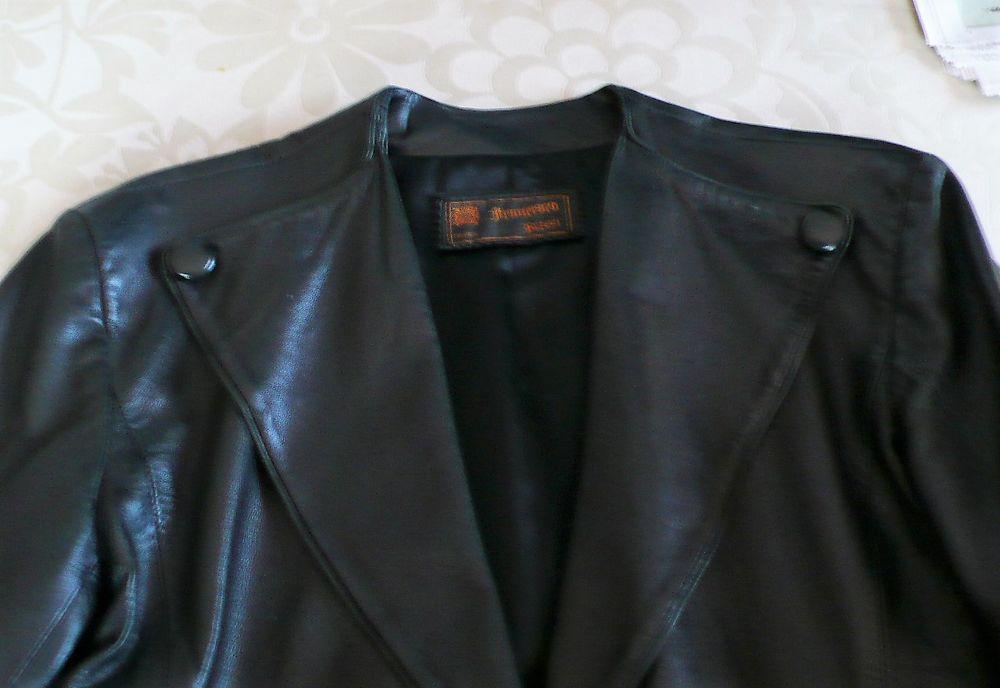 spencer femme cuir noir 30 Rives (38)