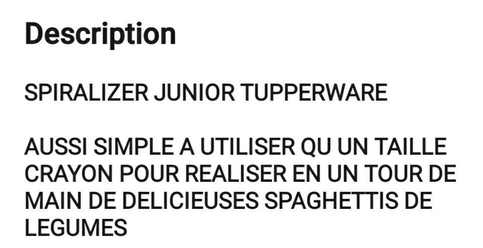 spiralizer junior tupperware 10 Saint-Maximin-la-Sainte-Baume (83)