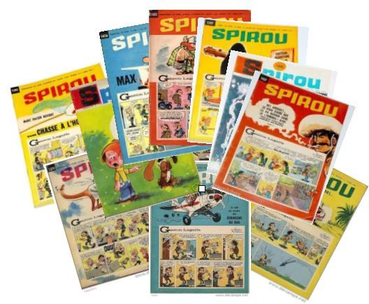 SPIROU Magazine hebdo lot 1963 à 1967 150 Jouars-Pontchartrain (78)