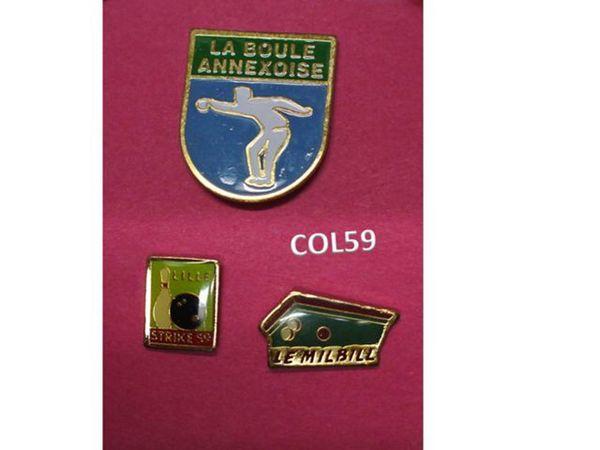 3 Pin's SPORT DE BOULES 3 Mons-en-Barœul (59)