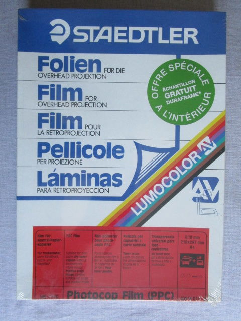 STAEDTLER - 100  FILMS laser pour la rétroprojection - neuf 15 Sassenage (38)