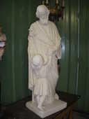 Statue ancienne  saint Antoine en plâtre plein 499 Château-l'Évêque (24)