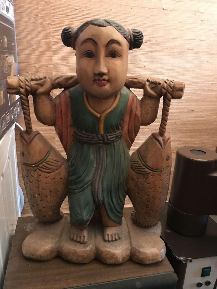Statue en bois indonésienne 15 Irigny (69)