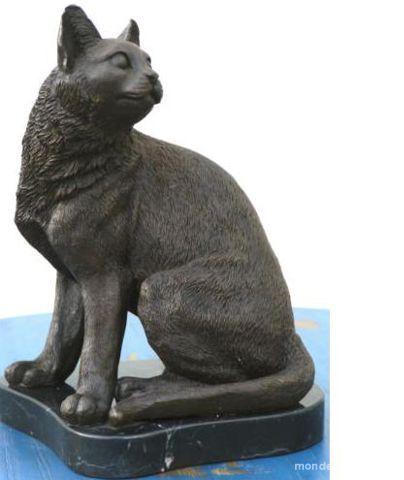 Statue Bronze  CHAT 299 Paris 16 (75)