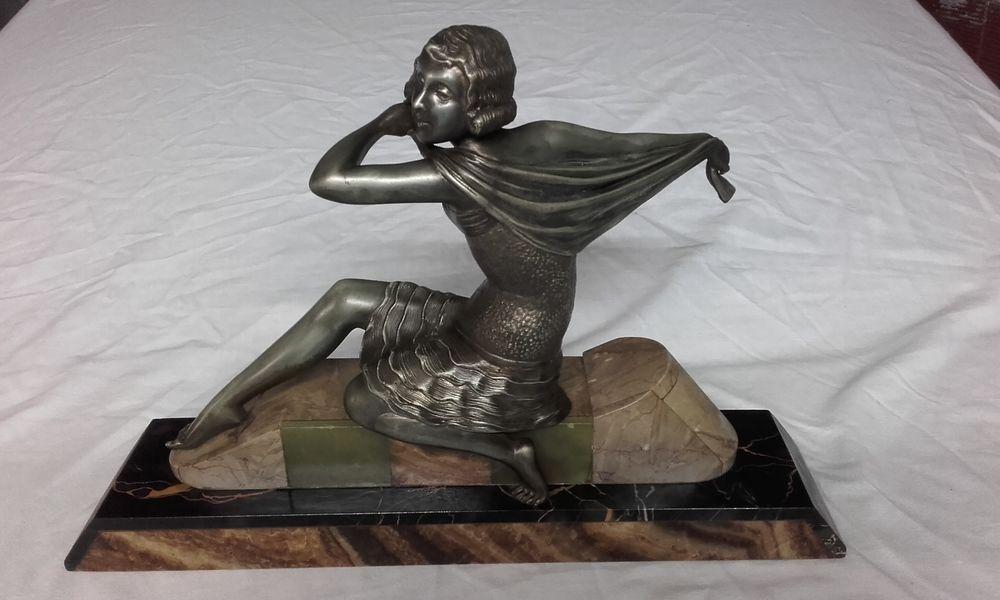 Statue bronze sur embase marbre 260 Cahors (46)