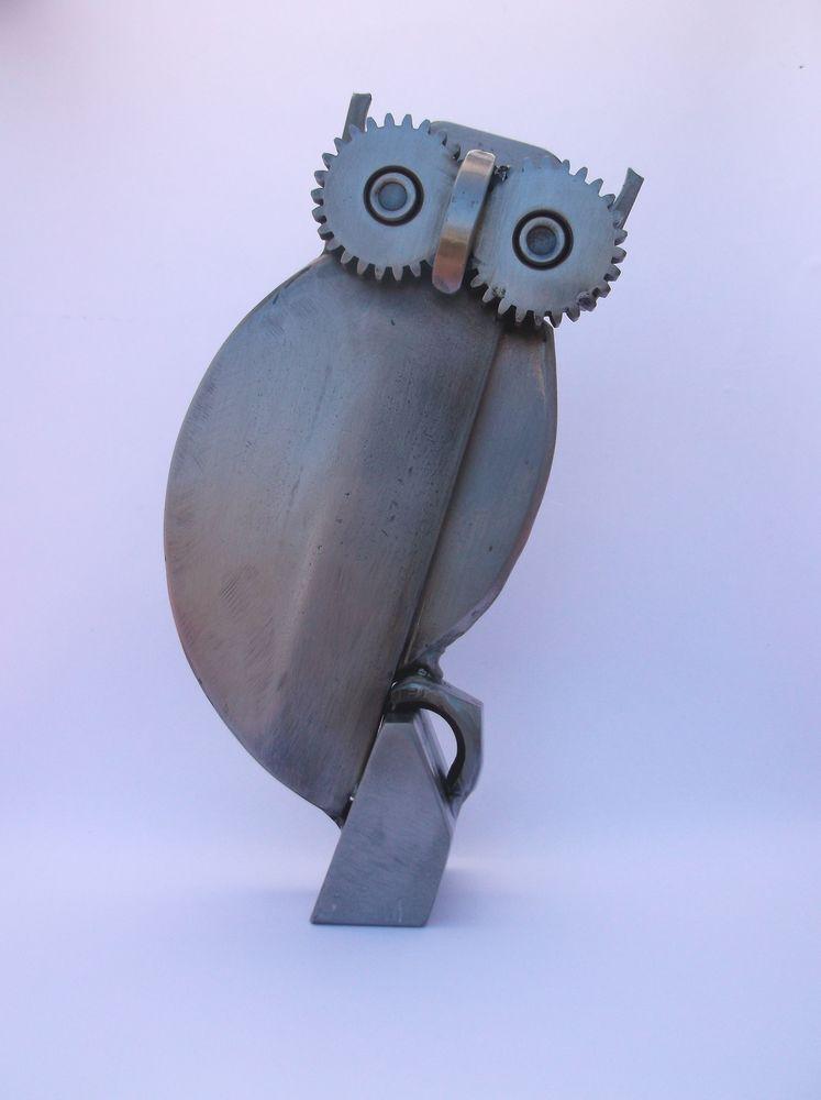 Statue de chouette en métal 35 Roanne (42)