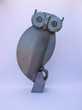 Statue de chouette en métal