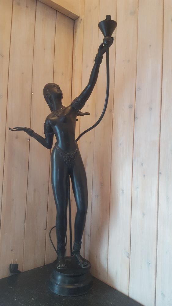 Statue Art Deco coloris Bronze/ CUIVRE  375 Brassac (81)