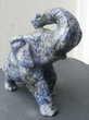 Statue éléphant en pierre mouchetée, bleue et grise Décoration