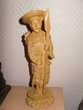 Statue Guerrier Asiatique vintage années 60s 26cm.