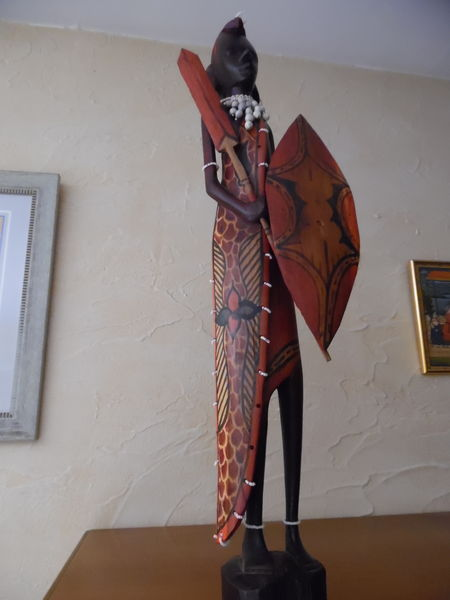 Statue Homme Africain Décoration Art Collection 20 Valence (26)