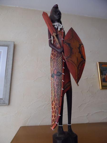 Statue Homme Africain Décoration Art Collection Décoration