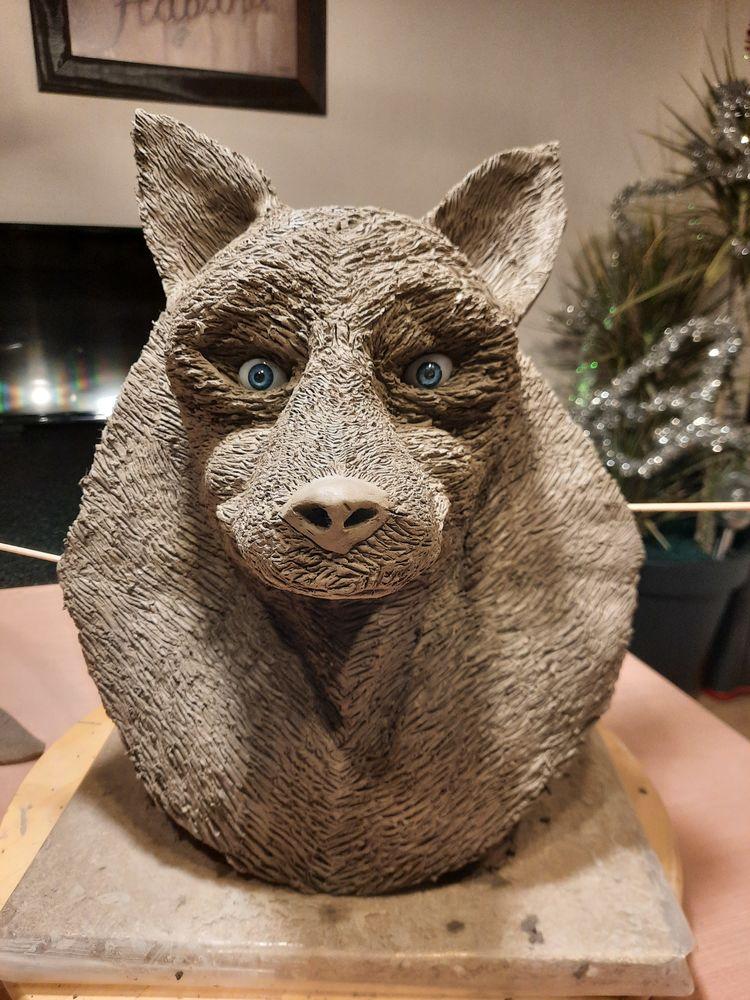 Statue magnifique loup garou  0 Mazé (49)