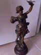 """Statue régule 19e """"Le message"""" """"Guillemin"""" 39cm"""