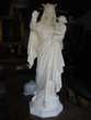 Statue vierge Marie ancienne en plâtre plein Château-l'Évêque (24)