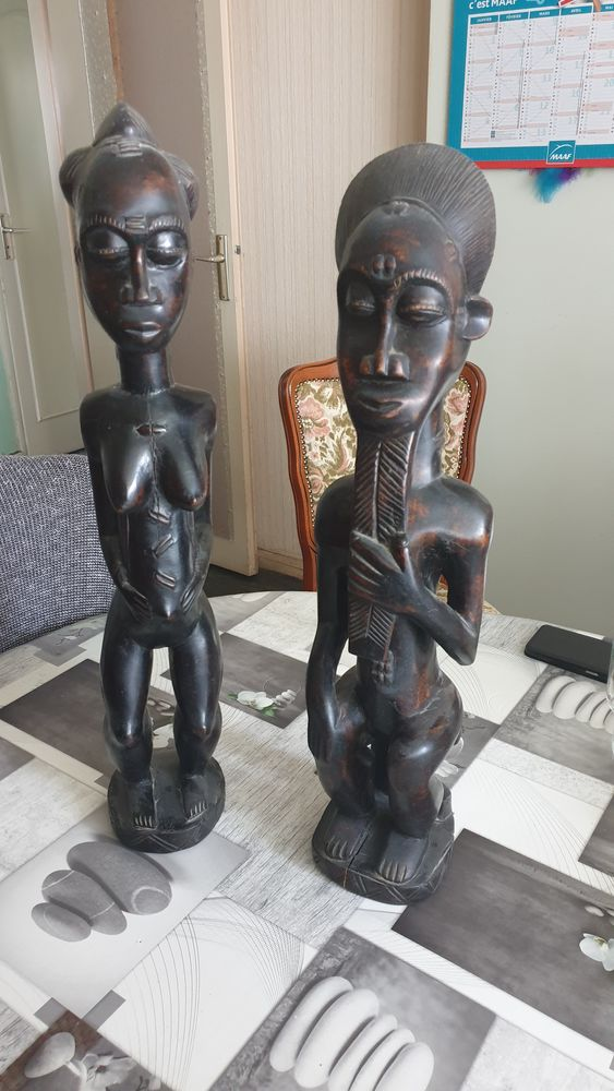 Statues africaines en bois d ébène  200 Boulogne-Billancourt (92)