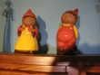 2 statues  de nains en terre émaillées