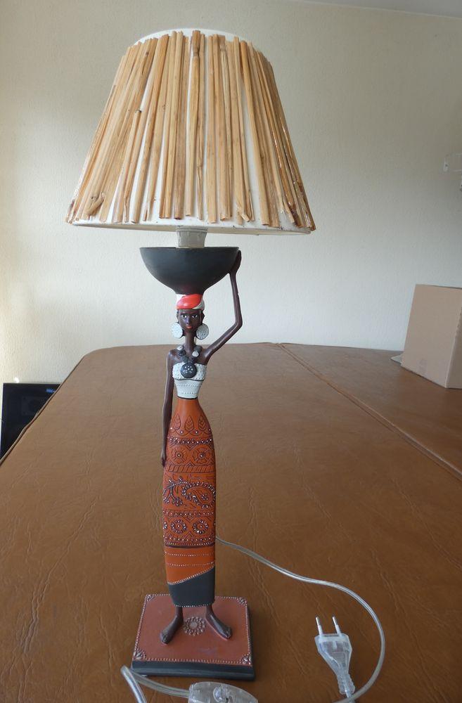 Lampe Africaine Statuette Wnk80opx Chevet De Version kXPTOZui