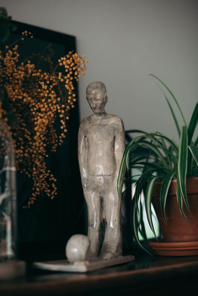 Statuette homme sculpture 30 Lezennes (59)