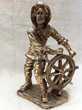 Statuette metal dore