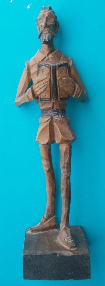 Statuette DON QUICHOTTE en bois estampillée OURO  H 21 CM 15 Montauban (82)