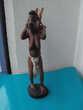 Statuette, sculpture africaine en bois, porteuse- Travail ra Montauban (82)