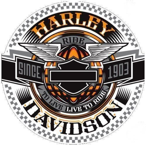 Sticker Harley davidson J004 Décoration