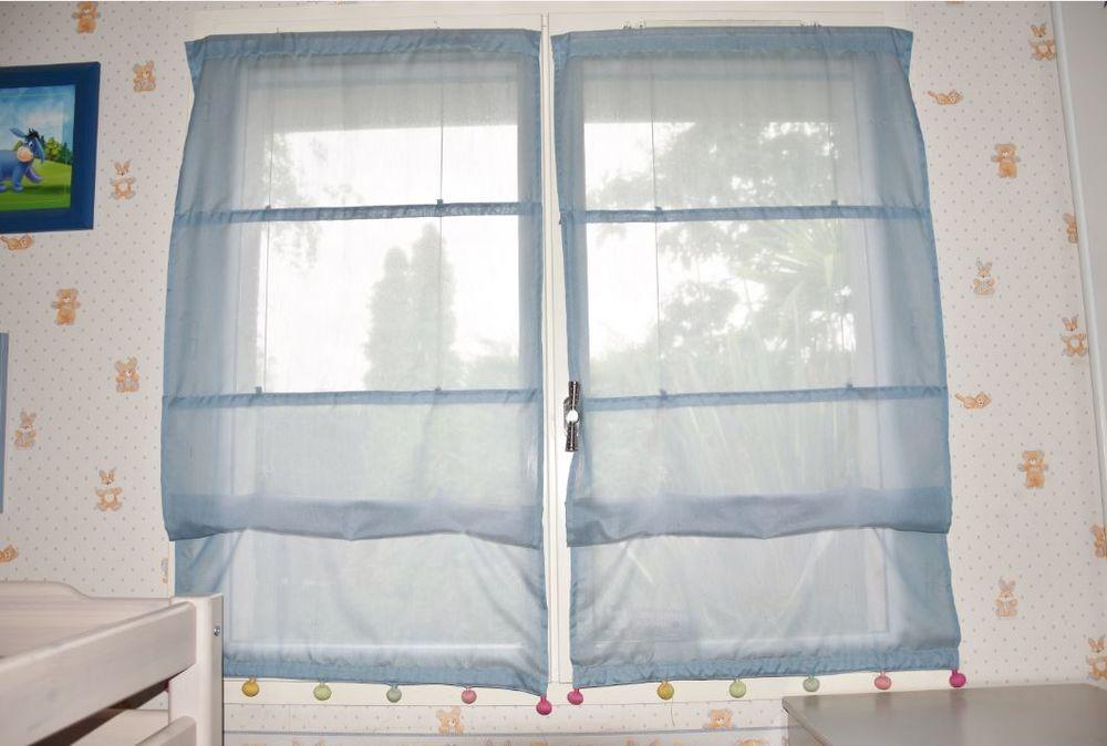 60 cm.  2 Stores bateau tamisant bleus. Idéal chambre enfant 50 Gujan-Mestras (33)