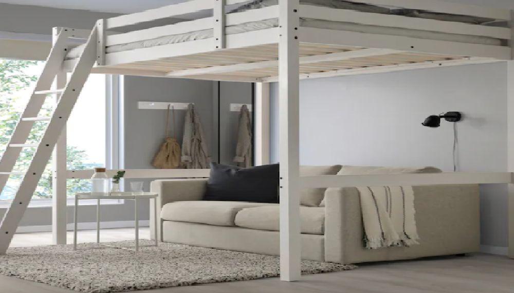 Structure lit mezzanine blanc 140x200 cm STORA IKEA 150 Les Pavillons-sous-Bois (93)