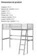 Structures Ikea lit mezzanine gris 90 x 200 cm peu servis