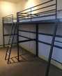 Structures Ikea lit mezzanine gris 90 x 200 cm peu servis Meubles